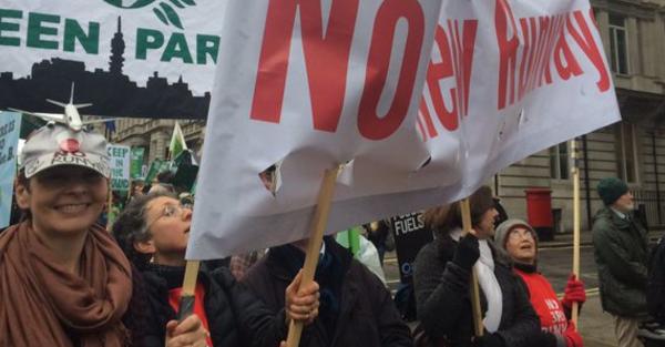 2015 Climate March Caroline Lucas