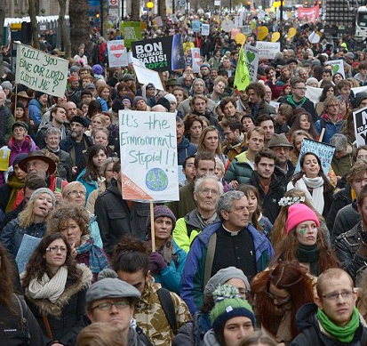2015 Climate March crowd