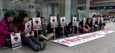 Image result for labour hunger strikes heathrow