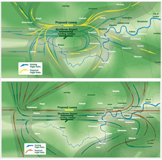 2M maps showing landings and takeoffs from northern runway