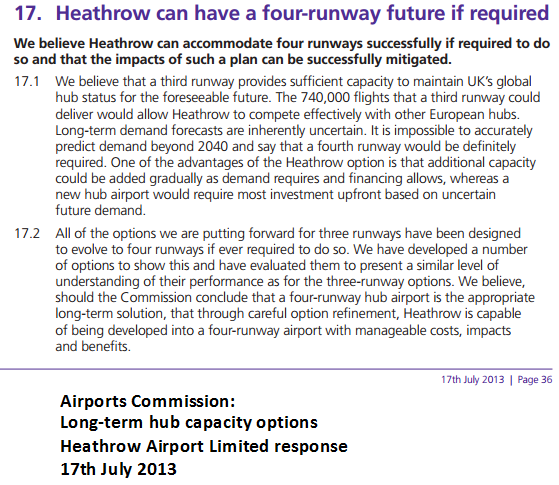 4 runway Heathrow 2013 document
