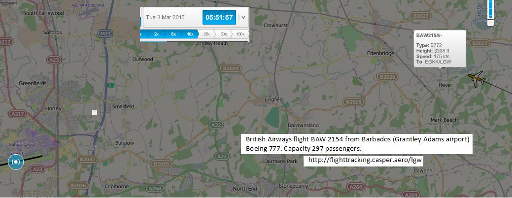 5.52am flight over Chiddingstone