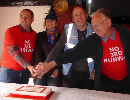 70th Birthday cutting the cake