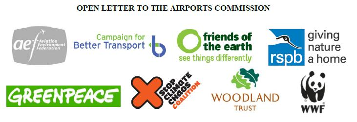 8 NGO logos for Airports Commission letter