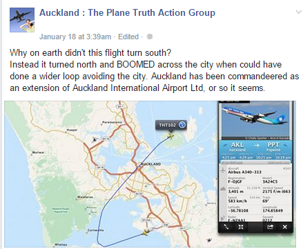 Auckland airport wrong path