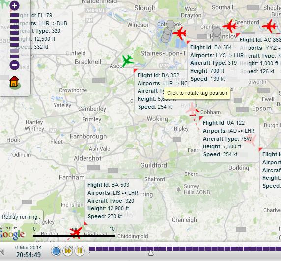 BA 0364 take off 20.54
