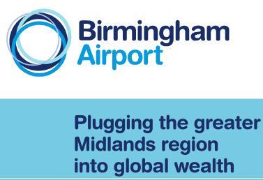 Birmingham airport plugging the midlands ....