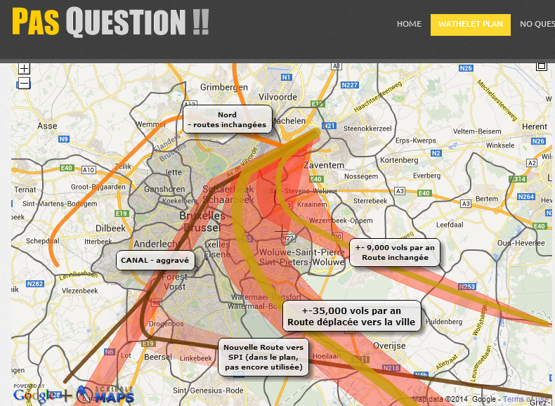 Brussels new flight paths