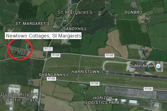 Dublin airport and cottages