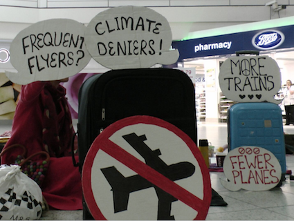 Frequent fliers climate deniers