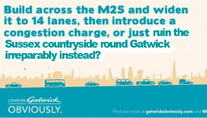 Gatwick and the Heathrow M25