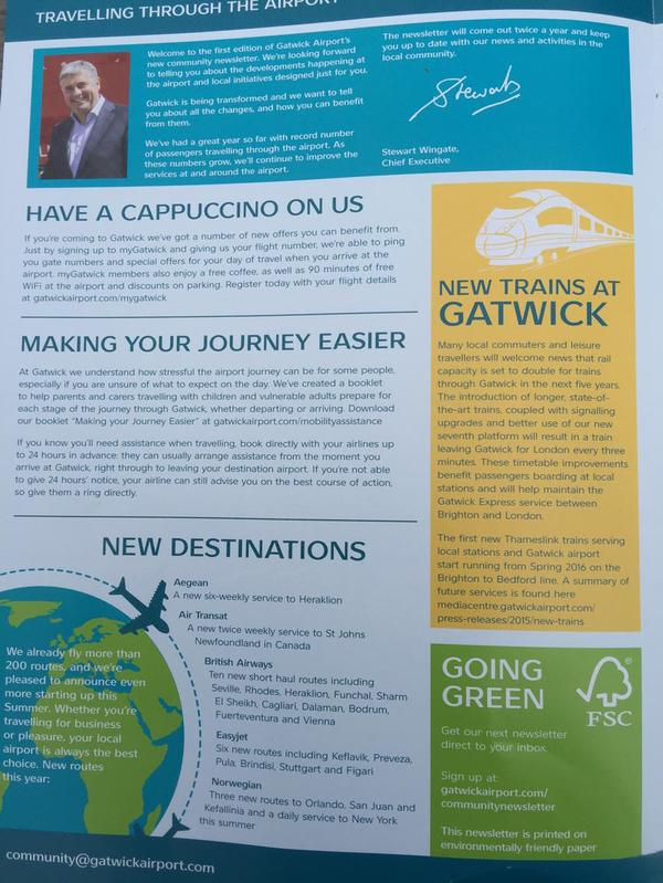 Gatwick free leaflet drop June 2015  3