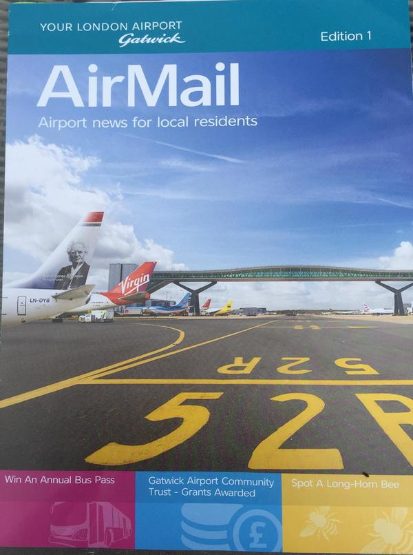 Gatwick free leaflet drop June 2015