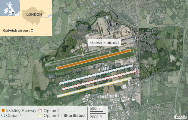 Gatwick runway options