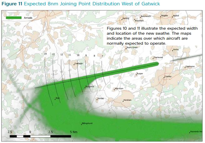Gatwick west arrivals map 2.6.2016