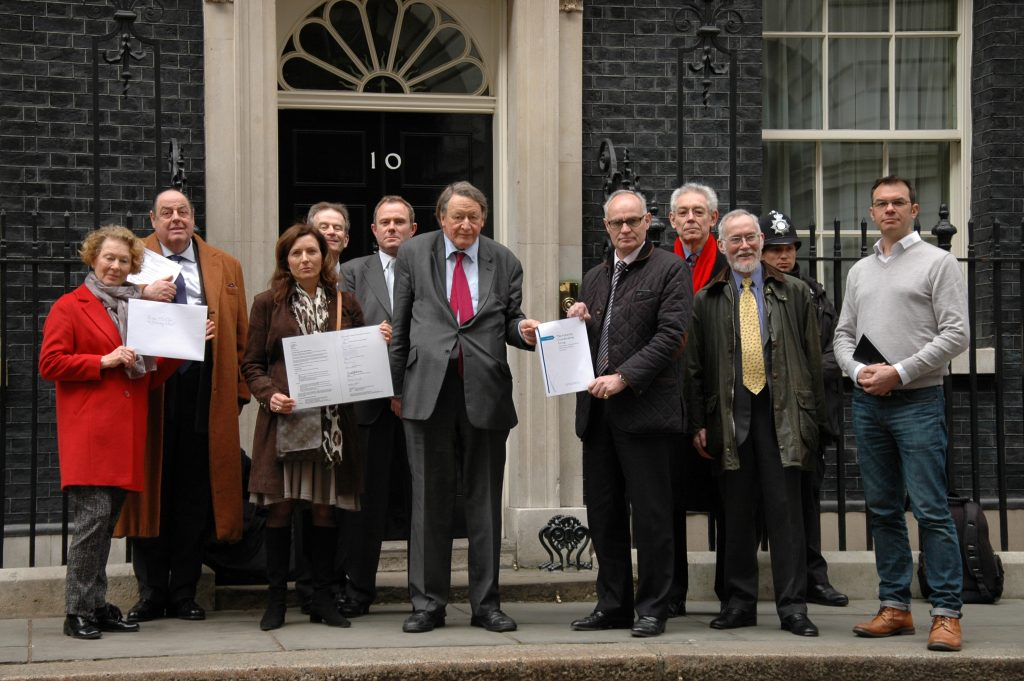Handing in letter to 10 Downing Street 23.3.2015