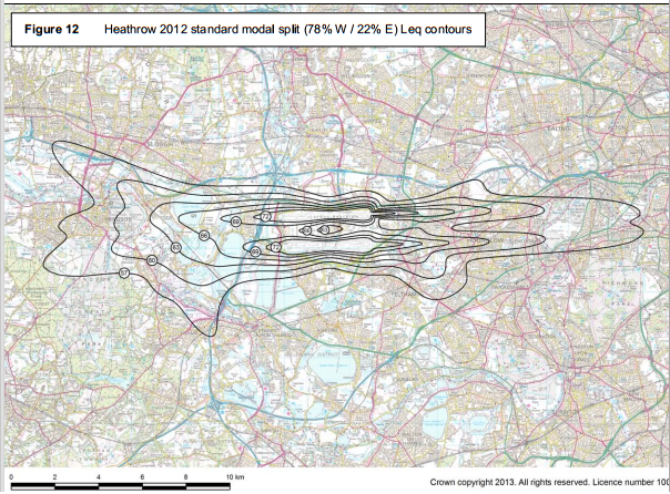 Heathrow Sept 2013 noise contour map