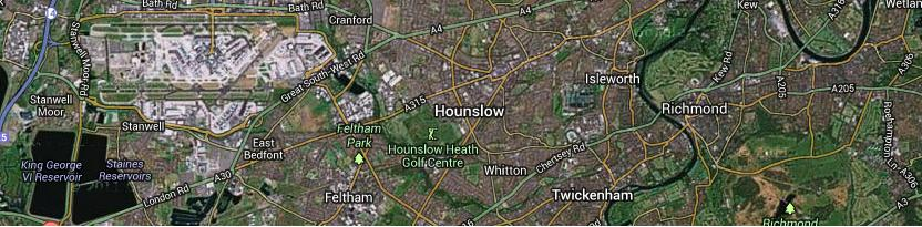Heathrow approach paths from the east
