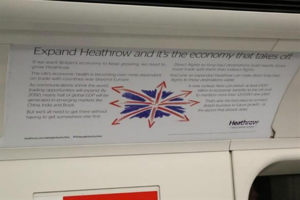 Heathrow banned advert twenty times trade