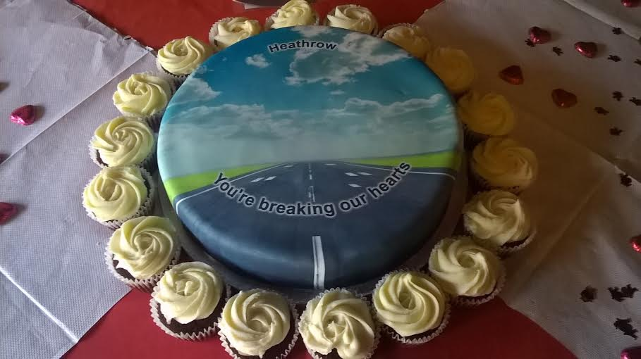 Heathrow breaking our hearts cake 14.2.2016