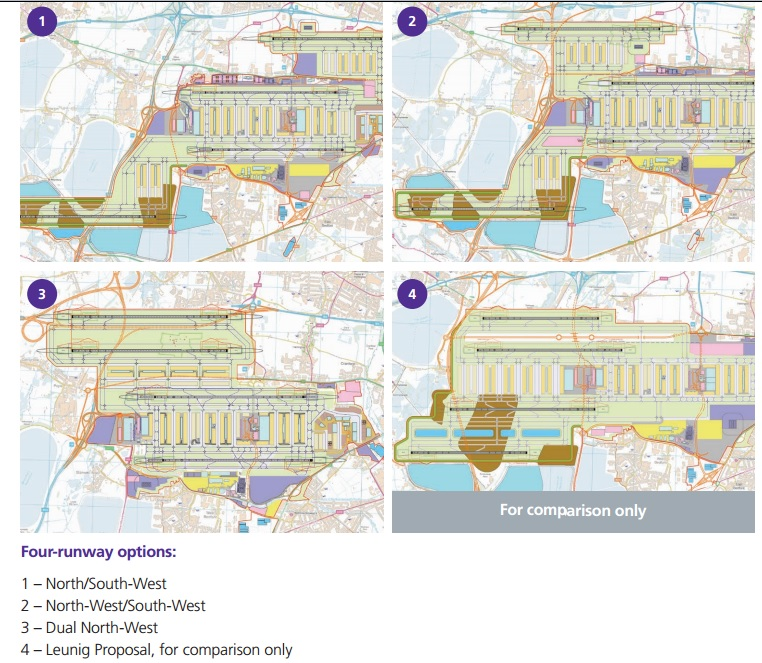 Heathrow fourth runway options