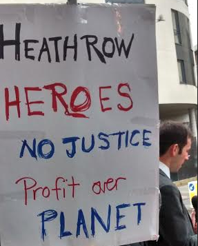Heathrow heroes placard