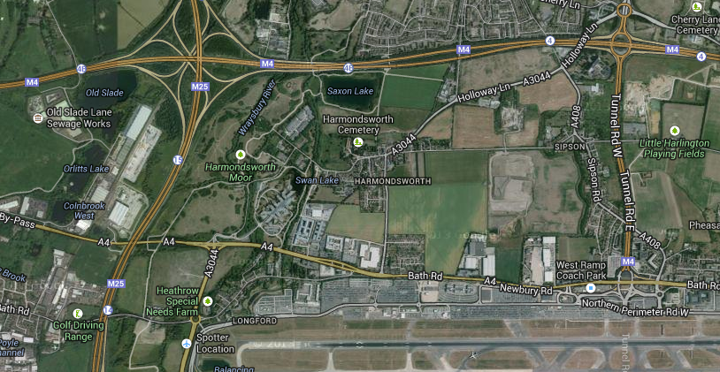 Heathrow map north west
