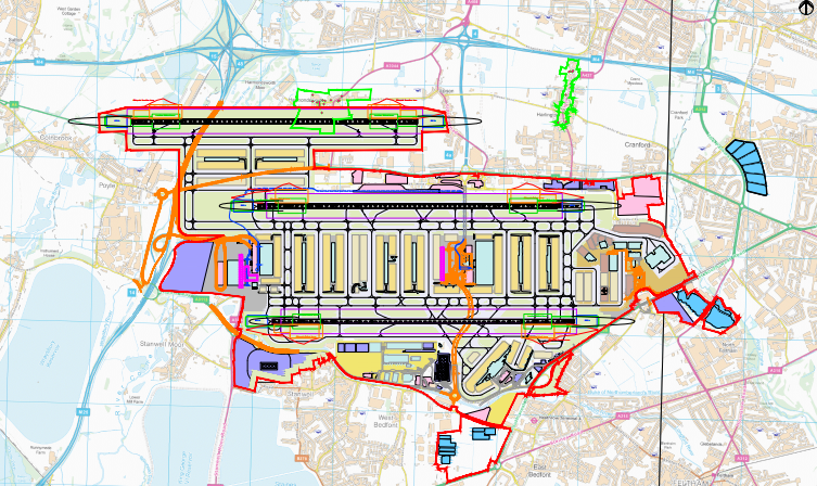 Heathrow northwest optimisation map