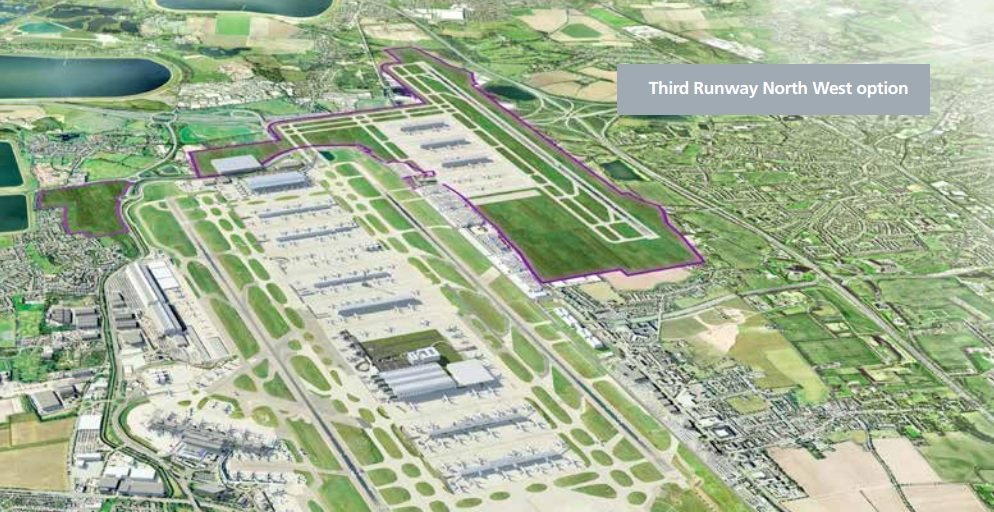 Heathrow northwest runway option