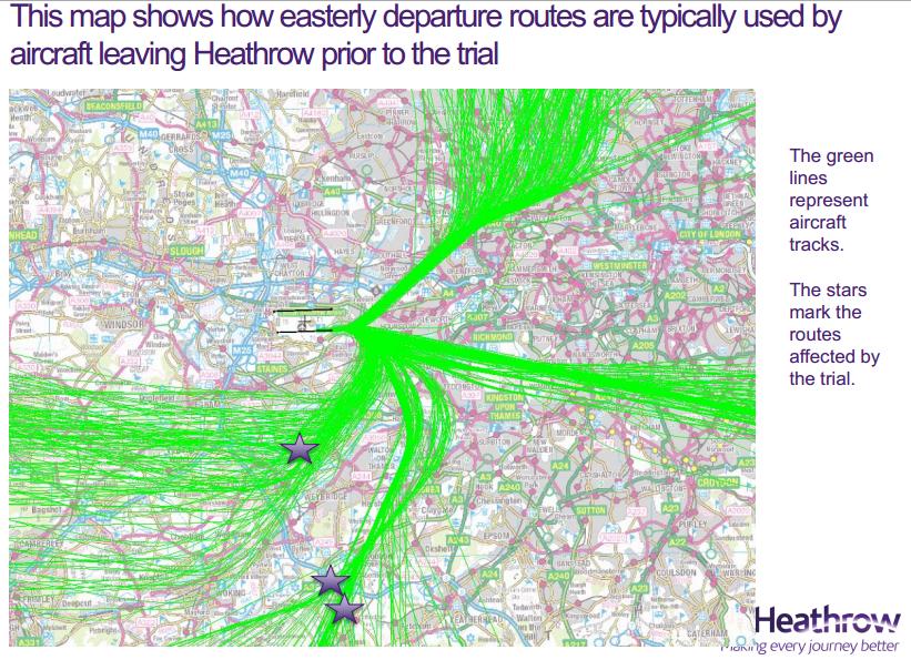 Heathrow original pre-trial flight paths August 2014