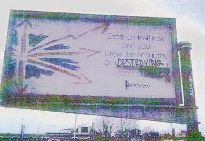 Heathrow poster destroying homes