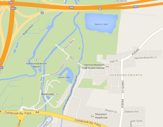 Heathrow saxon way map accommodation lane