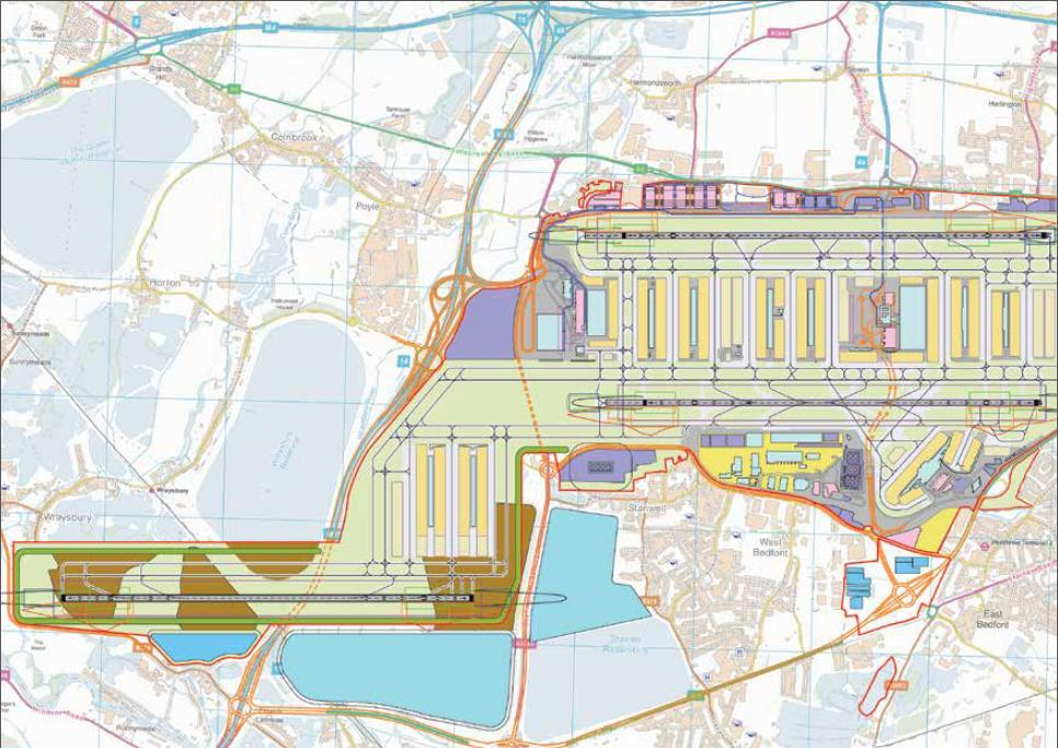 Heathrow south west runway proposal Stanwell Moor gone 17.7.2013