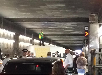 Heathrow tunnel protest 2.7.2015