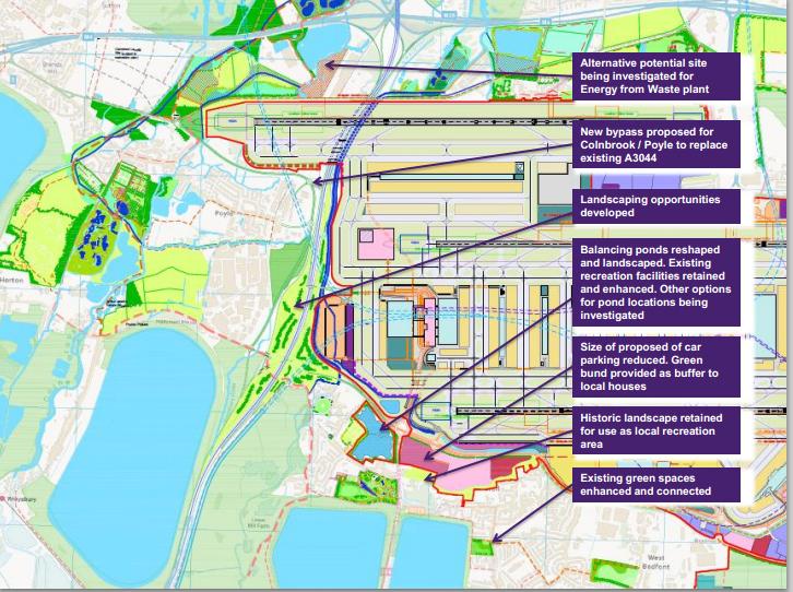Heathrow updated plan incinerator etc Oct 2014