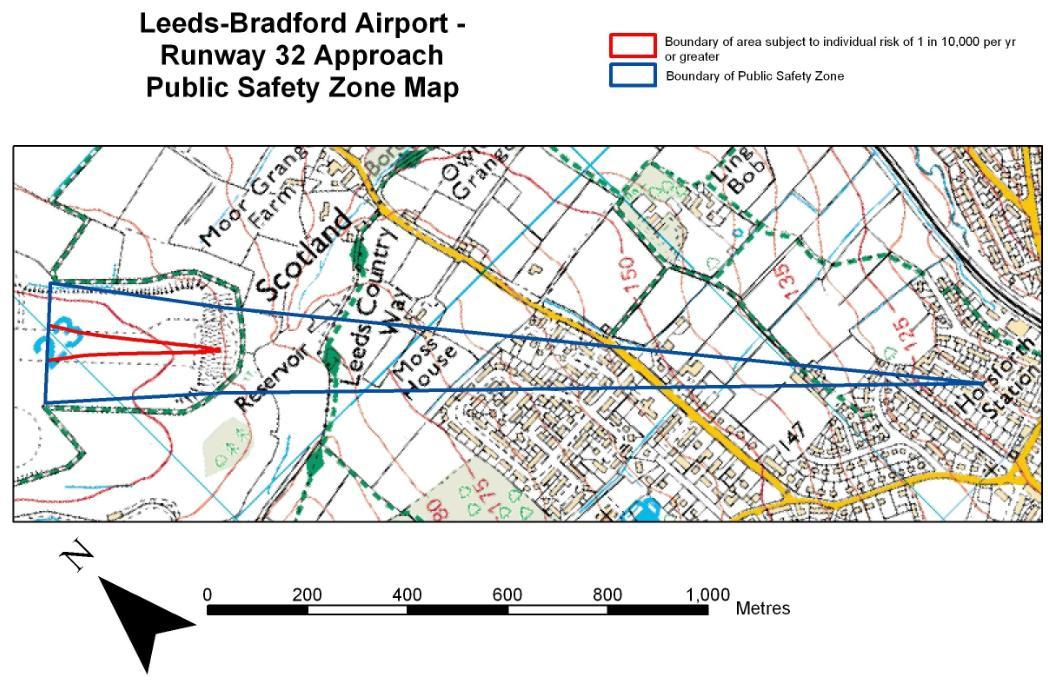 Leeds Bradford old PSZ maps