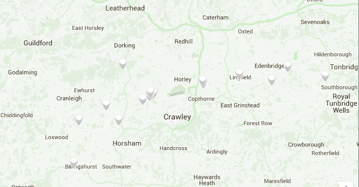 Location of the Gatwick sound monitors