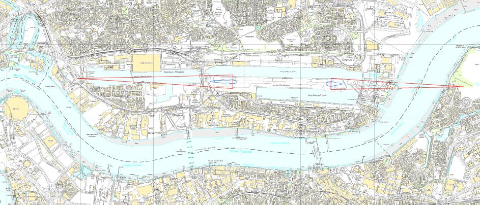 London City Airport PSZ map