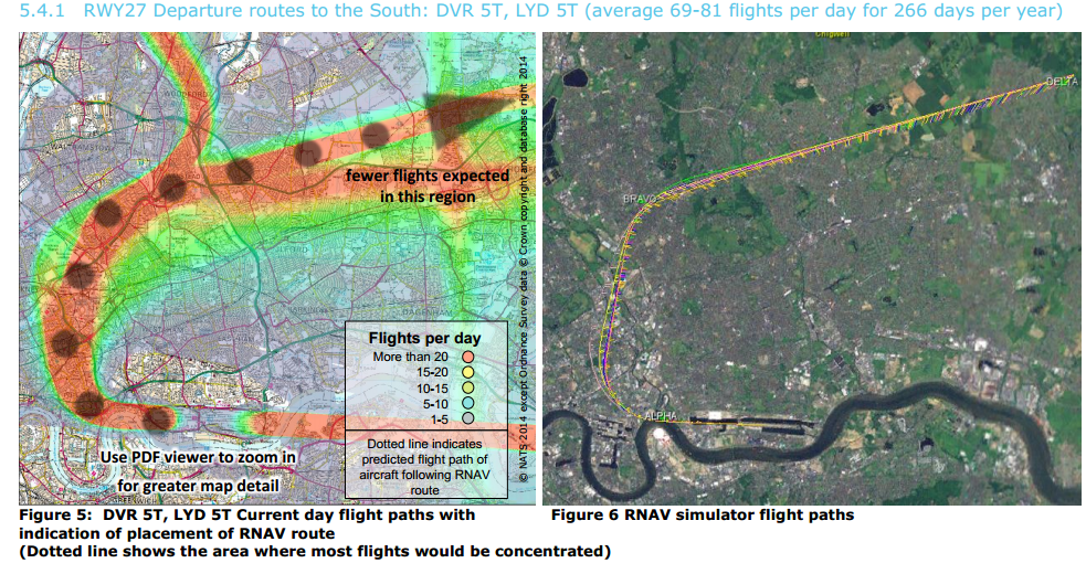 London City example of flight path concentration