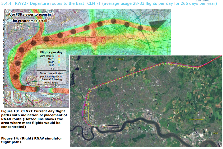 London city example of flight path concentration 2