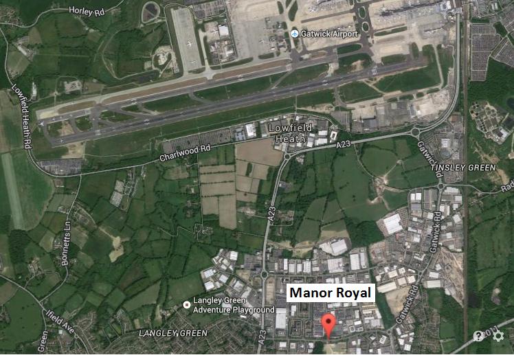 Manor Royal location