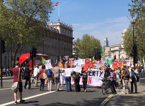 Marching backwards down Whitehall