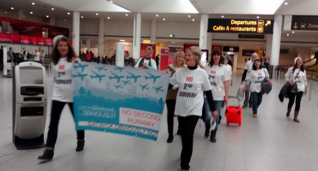 Marching round the terminal