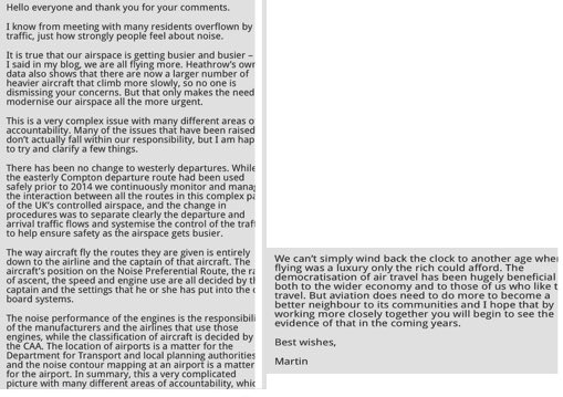 Martin Rolfe response to comments on blog