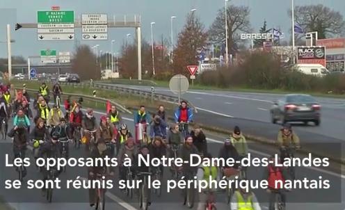 Nantes bikes on the peripherique 9.1.2016