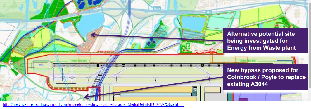 New proposed incinerator location by M4