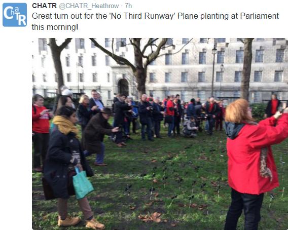 No 3rd runway plane planting