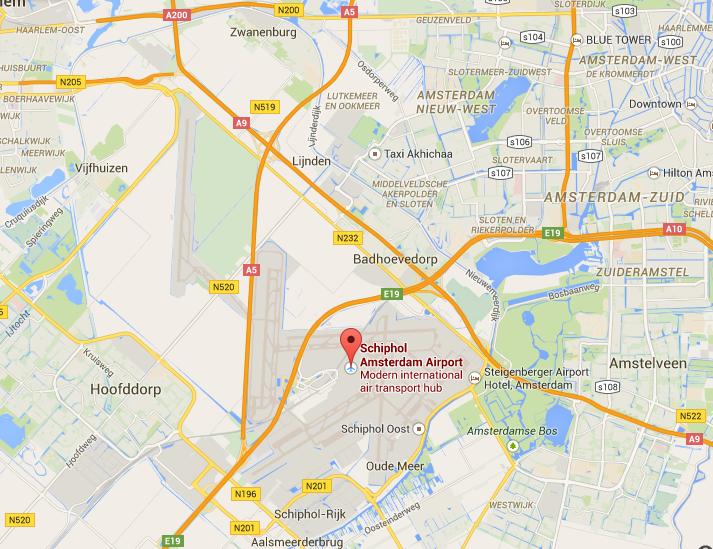 Schiphol map
