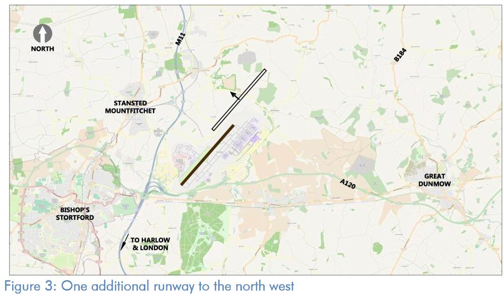 Stansted one north west runway