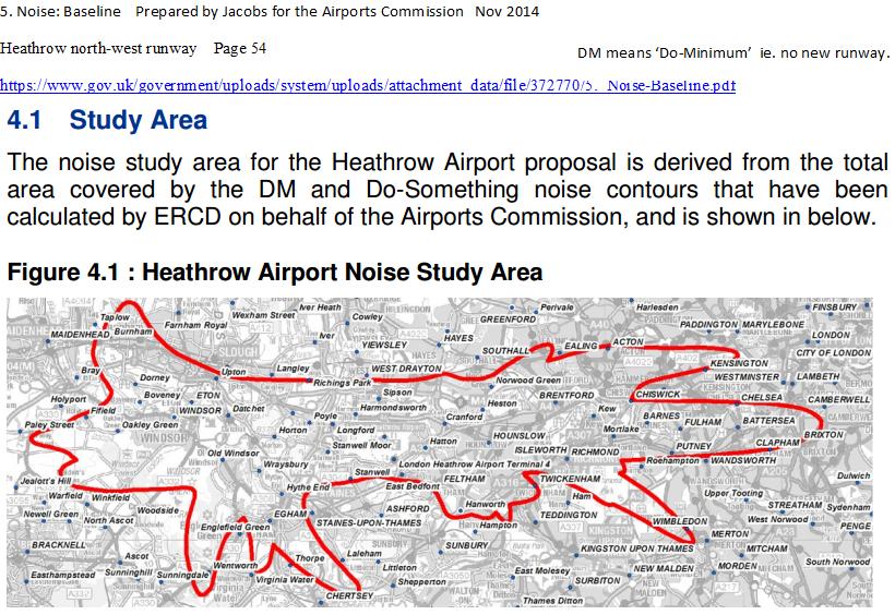 Teddington noise area from AC map by Jacobs